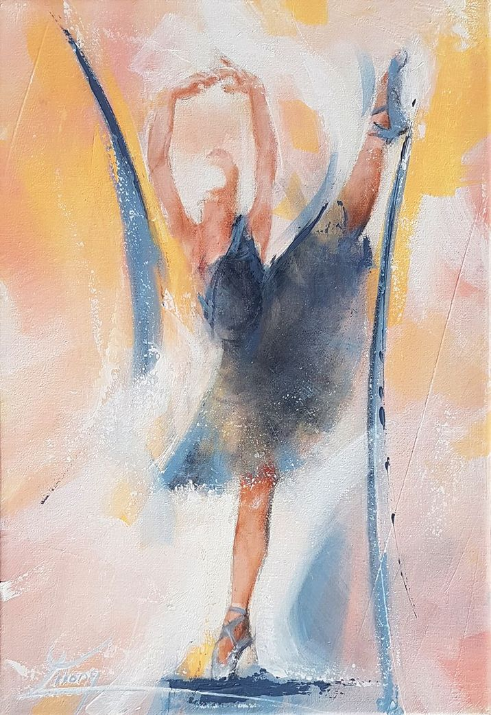 art painting canvas dance ballet : The black swan - the swan lake