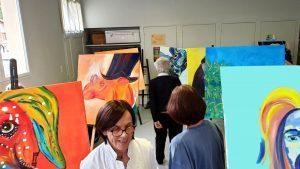 les photos du stage de peinture grand format façon POP ART organisé par Lucie LLONG, artiste peintre du mouvement - Puy-de-Dôme - Clermont ferrand - Pays d'Issoire - Champeix