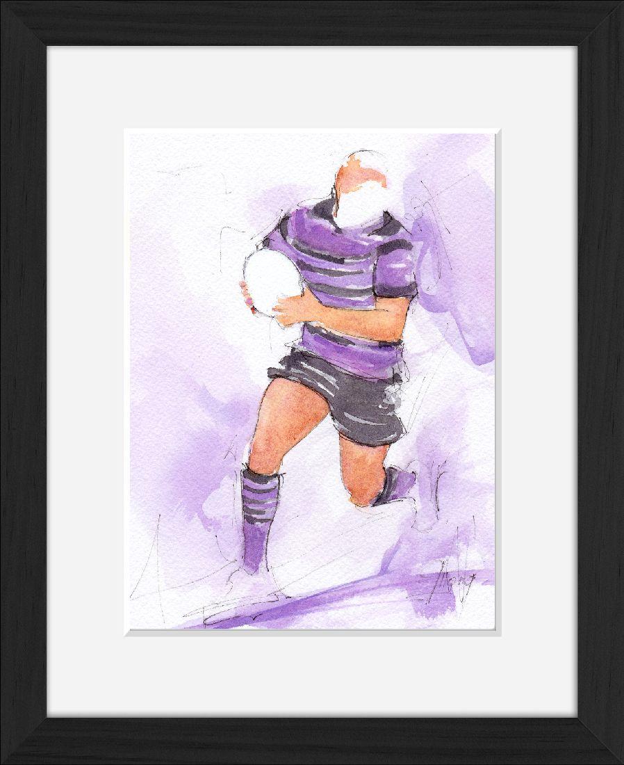 Aquarelle Rugby | Peinture de sport | USI rugby
