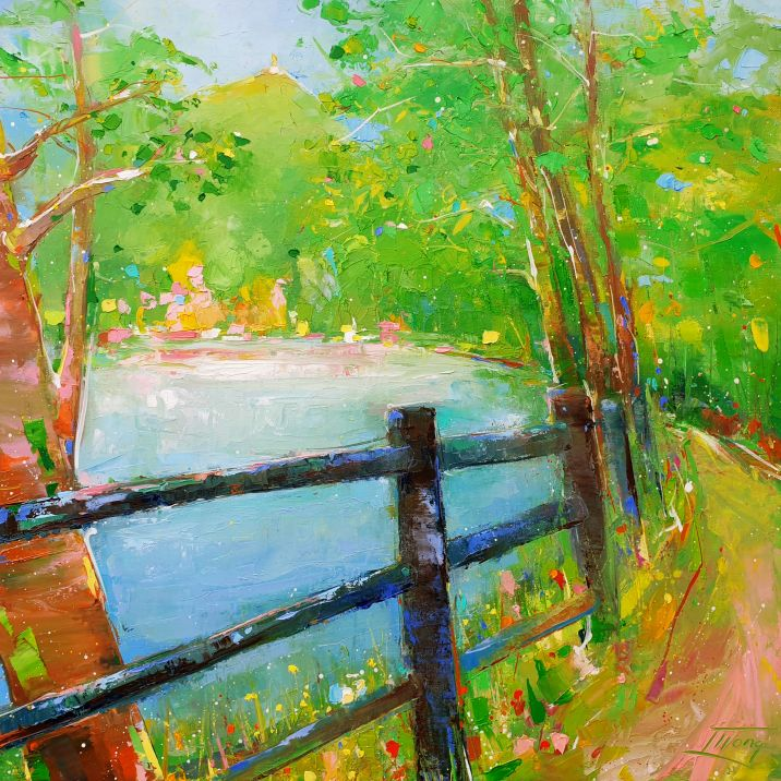 Tableau de paysage | peinture du Puy de Dôme par Lucie LLONG