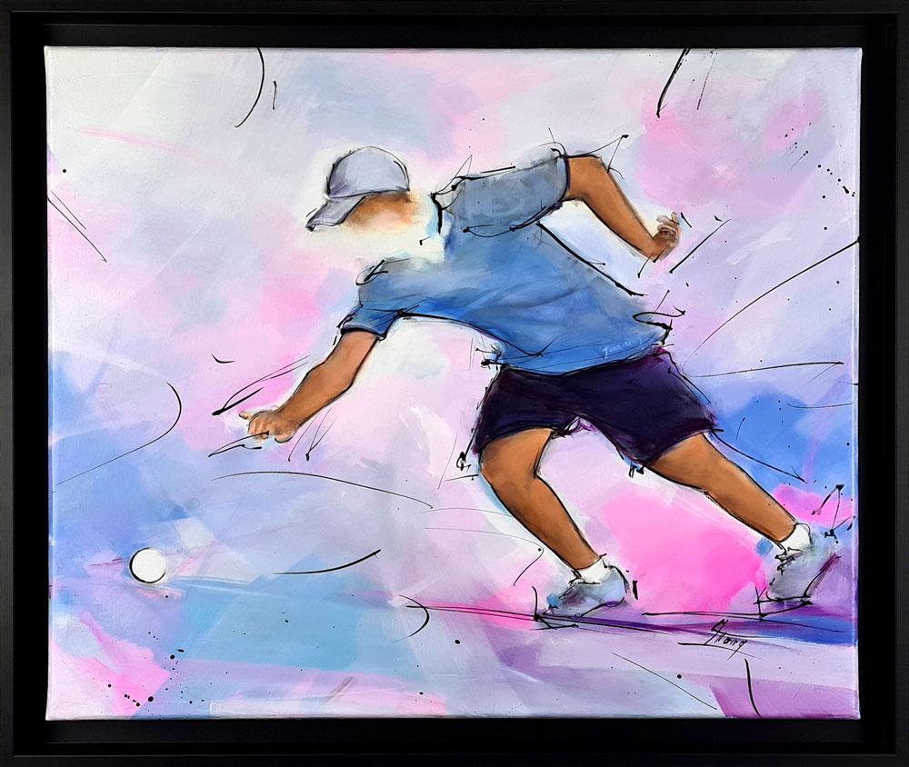 tableau de boules lyonnaises - Peinture de sport par Lucie LLONG, artiste peintre du mouvement