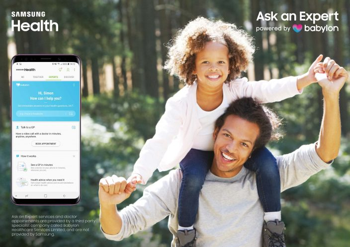 Samsung and Babylon Introduce 'Ask an Expert, powered by Babylon' to Offer Live Video Doctor Appointments and Symptom Checker