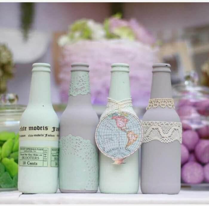 Tutoriales de botellas de vidrio pintadas
