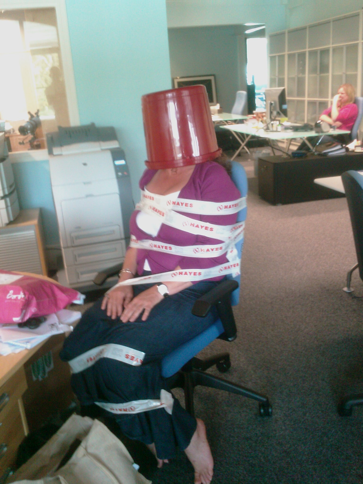 Another hard day in the office