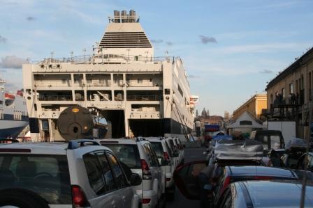 Boarding 'Splendid' in Genova