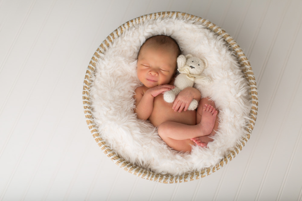 Newborn Photography in basket