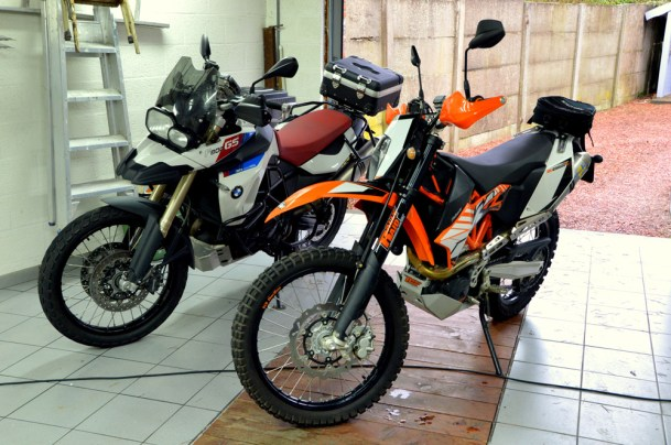 KTM 690 Enduro R and BMW F800GS