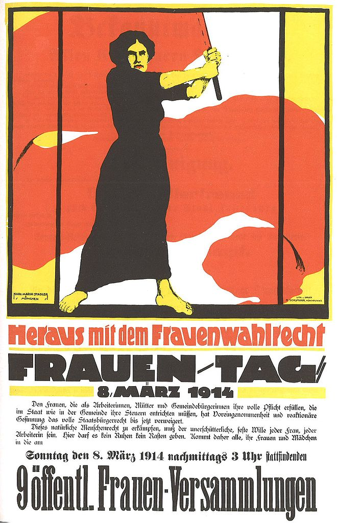 Plakat zum Internationalen Frauentag
