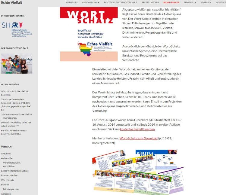 Ein Screenshot von der Kampagnenwebseite des LSVD.