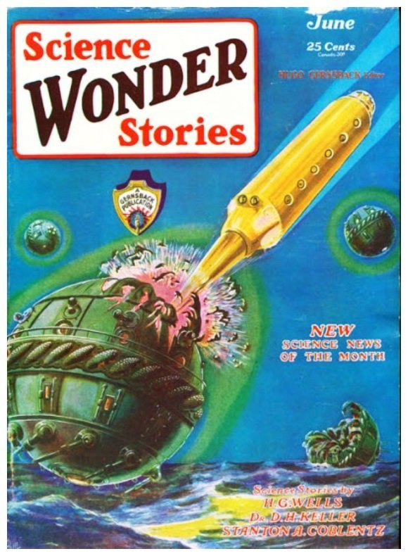 Cover of 1st issue of Science Wonder Stories