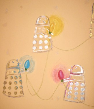 Detail from Dalek Christmas Light Procession