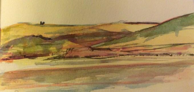 Watercolour, 21 x 13cm