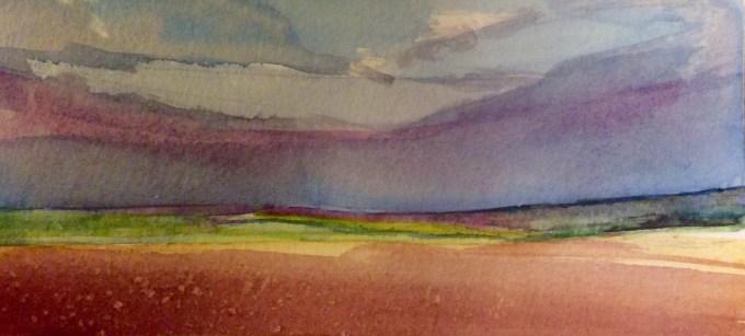Watercolour, 17.8 x 8 cm