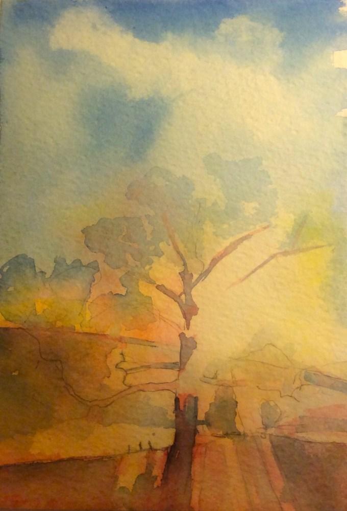 Watercolur, 12.5 x17.8 cm