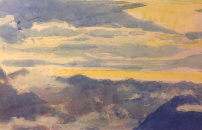 Alps II, Watercolour, 15 x 11 cm