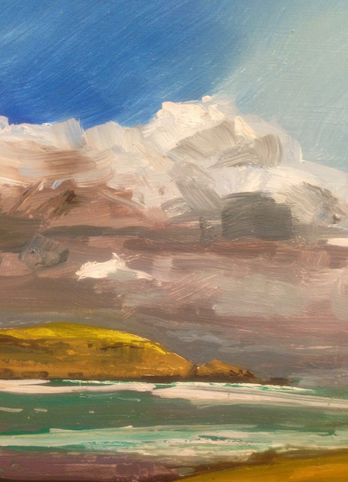 Fisherman's Cove, oil on board, 12 x 24 cm