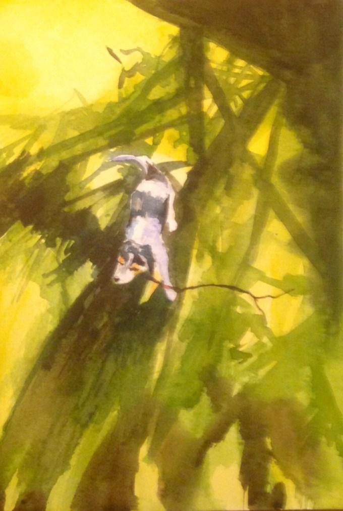 More stick, Watercolour, 15 x 11 cm