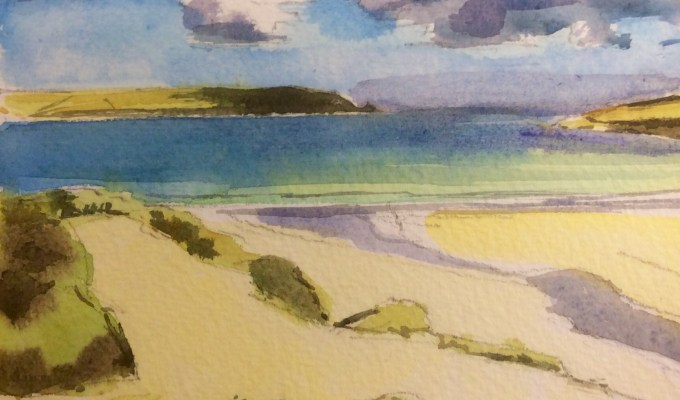 Clouds above Dunes, Daymer Bay, Cornwall.