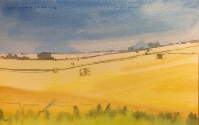 Harvest II, Watercolour, 15 x 22 cm
