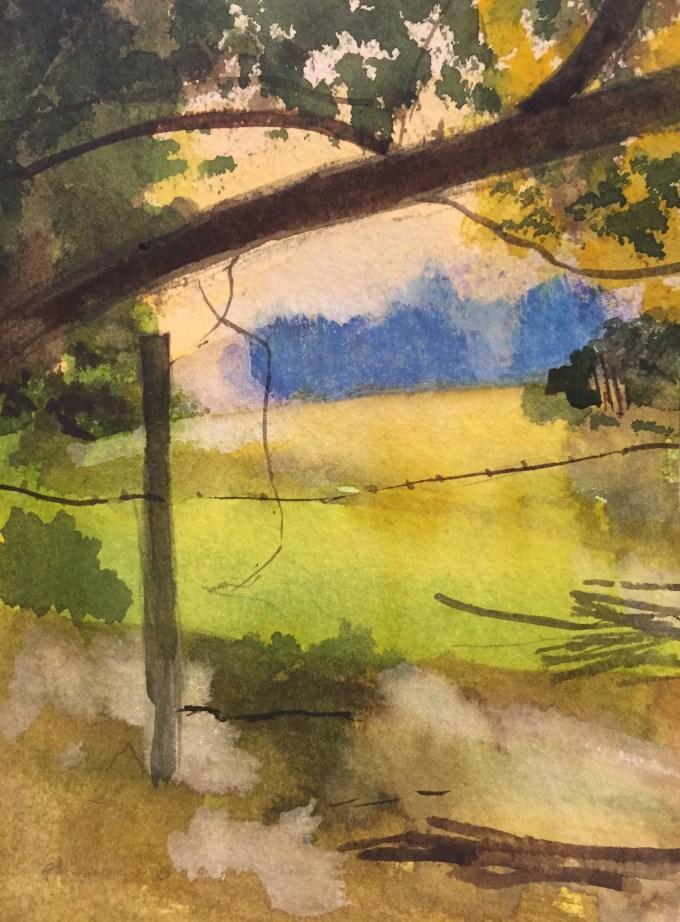 September Morning, Watercolour, 12 x 7 cm