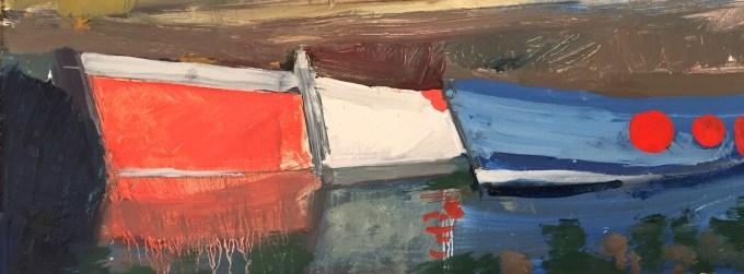Oil sketch, Padstow, Oil on Board, 32 x 18cm