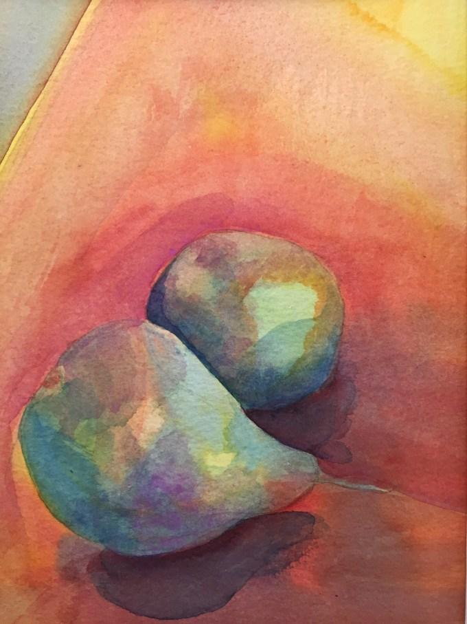 Pears, Watercolour, 22x17 cm