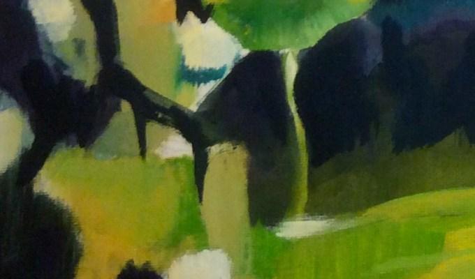 Bay Tree, Oil on paper