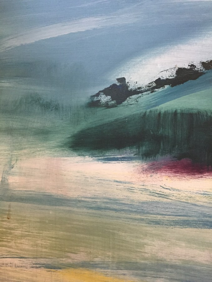 Storm Coming In, Oil sketch, detail