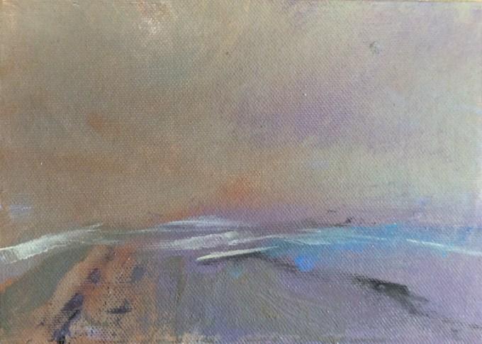 Rock, Cornwall, oil sketch.