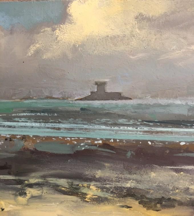 St Ouen, Jersey, oil on board.