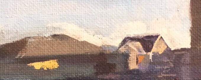 Sunlight study, oil sketch