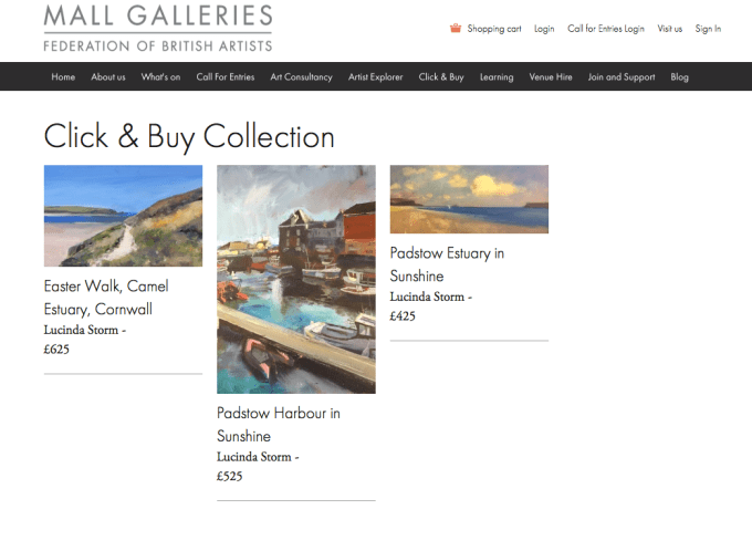 Mall Galleries Click and Buy Collection