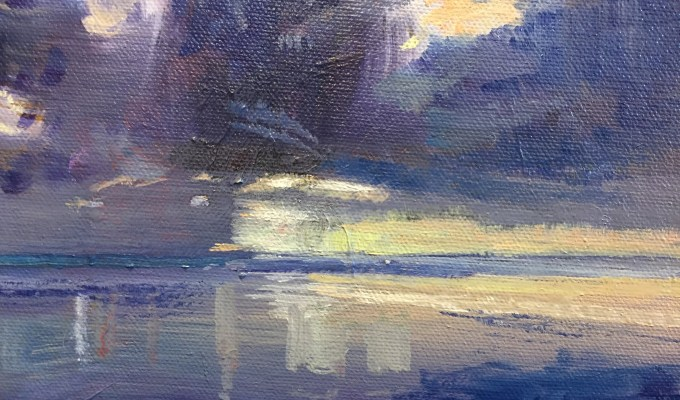 Lemon Sunset, Saunton Sands, selected for NEAC Annual Open Exhibition 14-23rd June 2018, Mall Galleries, London