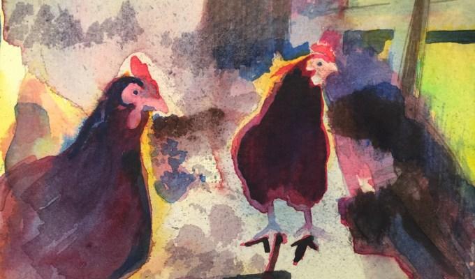 Late Winter Hens III