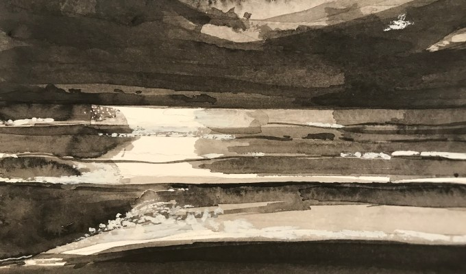 St Ouen, Jersey, tonal Study, III