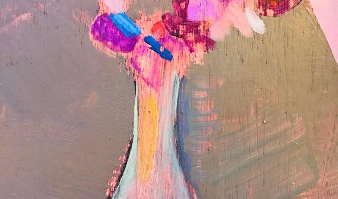 Sweet peas, oil sketch