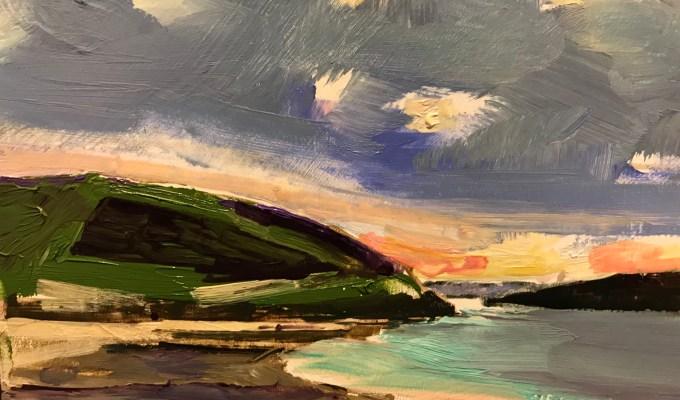 Brae Hill, oil sketch