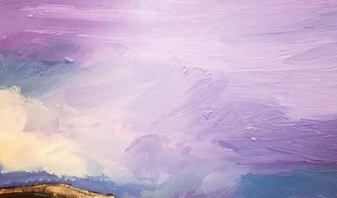 Daymer Bay, Cornwall, Oil detail.