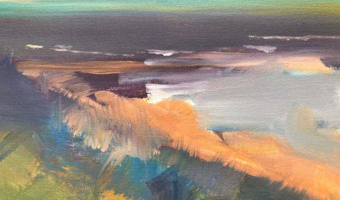 Sheltering in the Dunes, oil detail