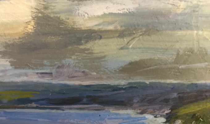 Towards Padstow, Oil sketch