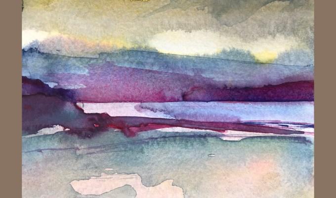 Beach Sketch, Sunset, Polzeath, Cornwall