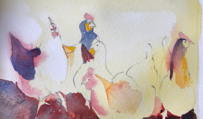 Hen Dance, Spring, work in progress