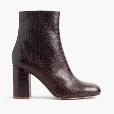 Stamped croc zip boots
