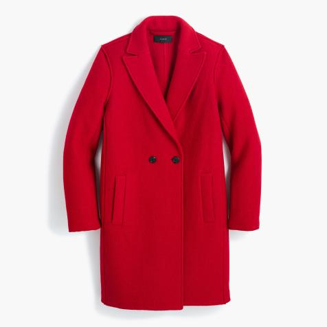 Tall Daphne topcoat in boiled wool