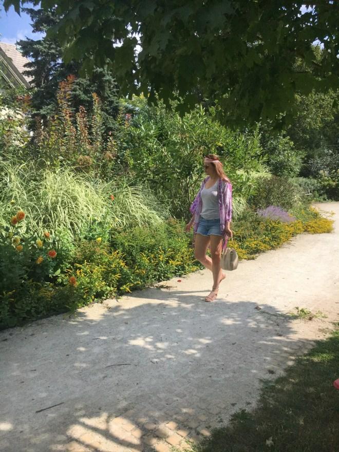 taking in the garden