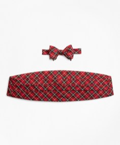 red tartan accessories