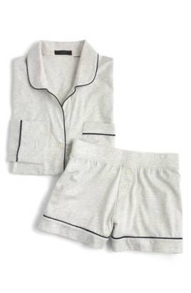 gray knit pjs