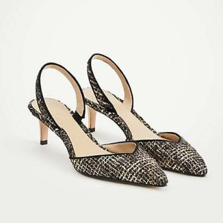 tweed slingbacks