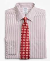 Brooks Brothers Stretch Regent Fitted Dress Shirt, Non-Iron Stripe