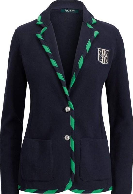 Ralph Lauren tipped crest blazer